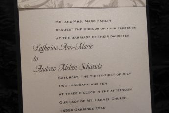 Wedding Invitations Start to Finish