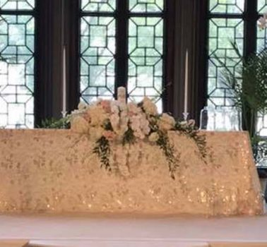 Erica and Grant Wedding Ceremony table